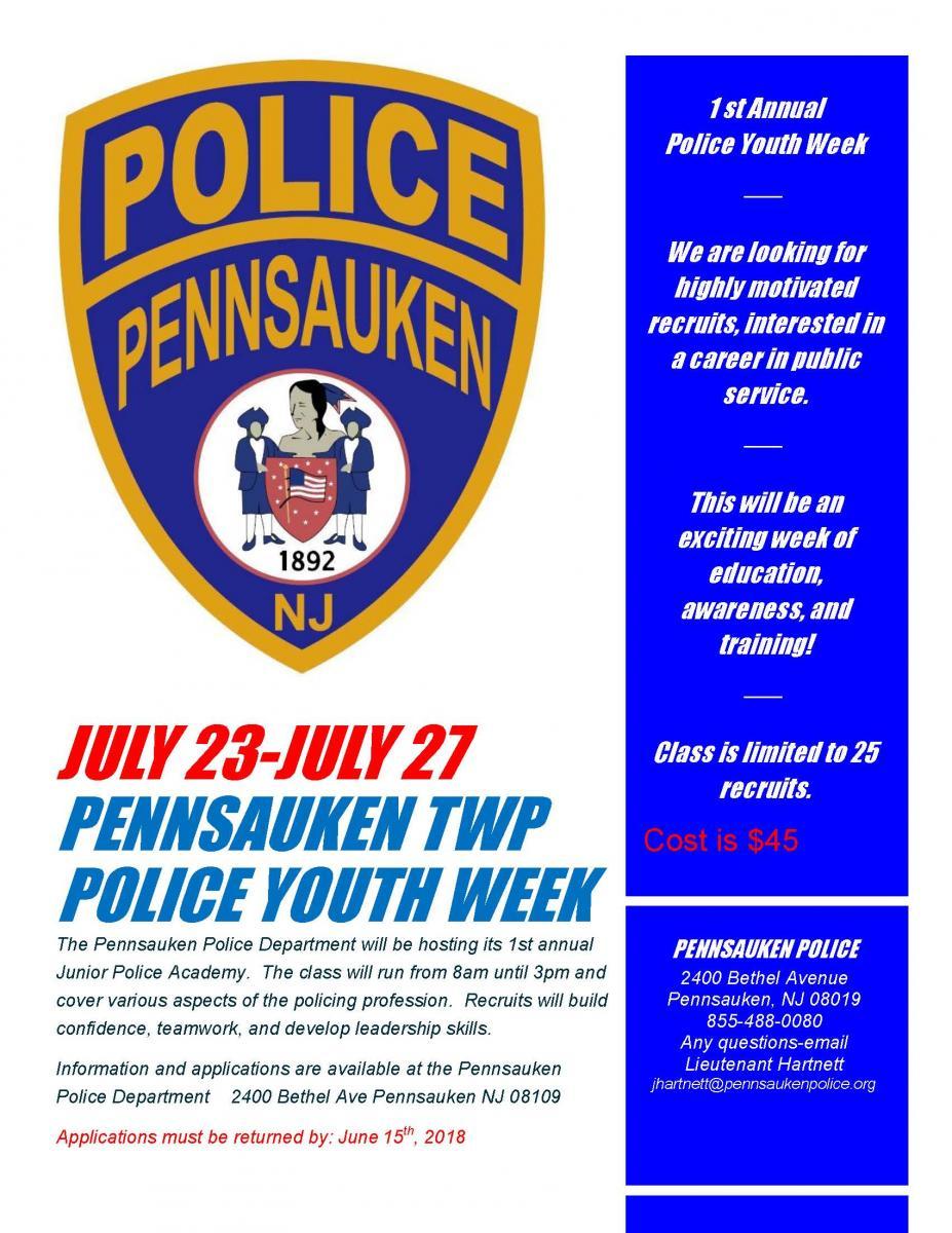 Police Home Pennsauken Township New Jersey